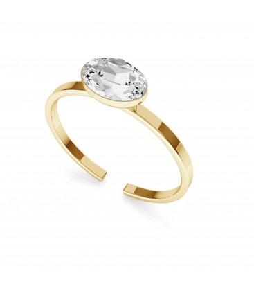 Srebrny pierścionek z owalnym kryształem Rivoli My RING™, srebro 925