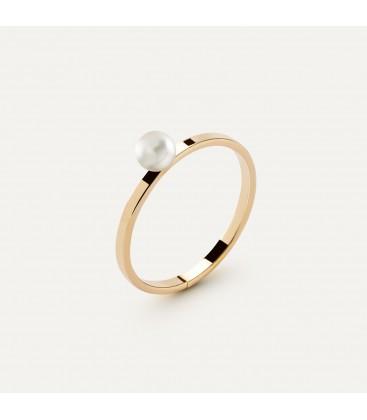 Srebrny pierścionek z perełką 4mm My RING™, srebro 925