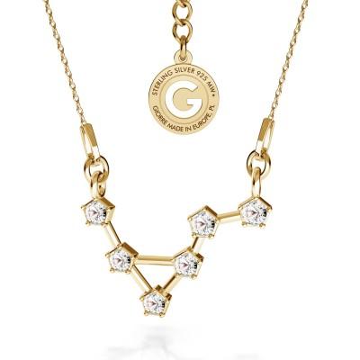 WAGA srebrny naszyjnik zodiak z kryształami Swarovskiego 925