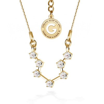 AQUARIUS zodiac sign necklace with Swarovski Crystals silver 925
