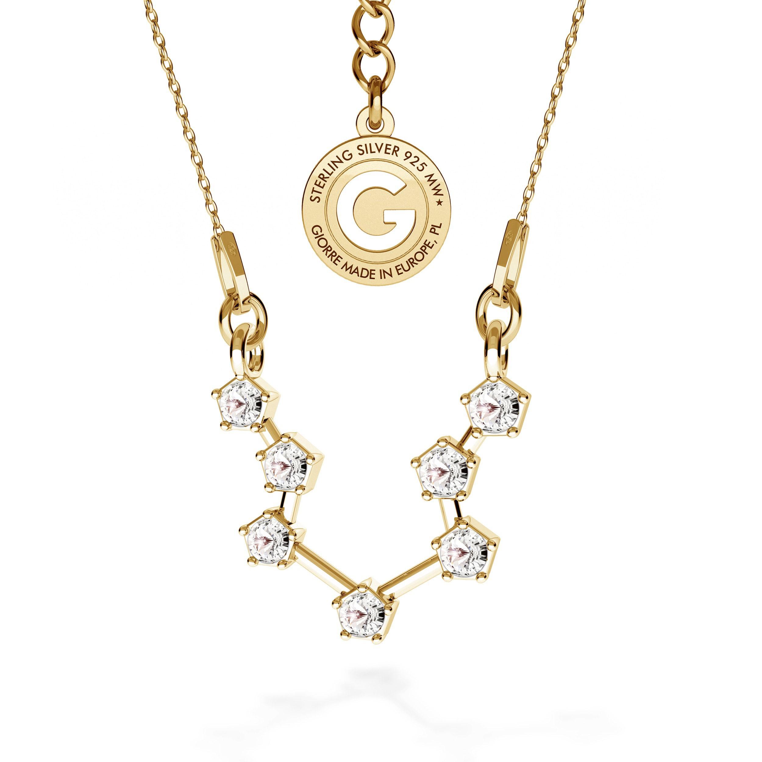 ACUARIO signo del zodiaco collar plata 925 Swarovski