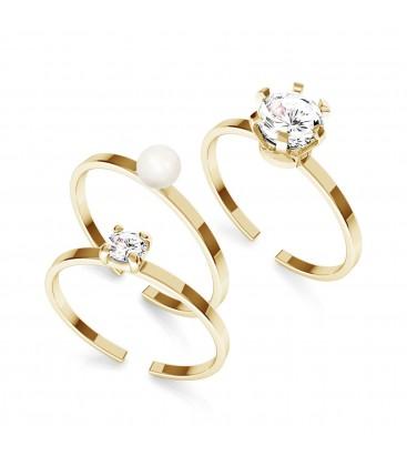 Zircon ring, silber 925 My RING™ set