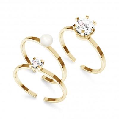 Zircon ring 3mm, silber 925 My RING™