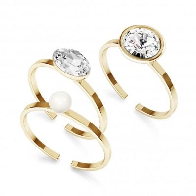 Anello di cristallo, argento 925 My RING™