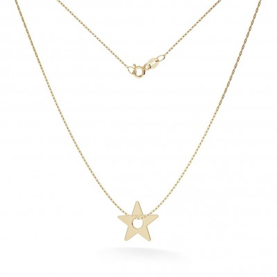 GOLD STAR NECKLACE 14K, MODEL 11