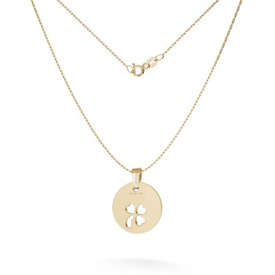 NECKLACE CLOVER PENDANT 585 14K, MODEL 24