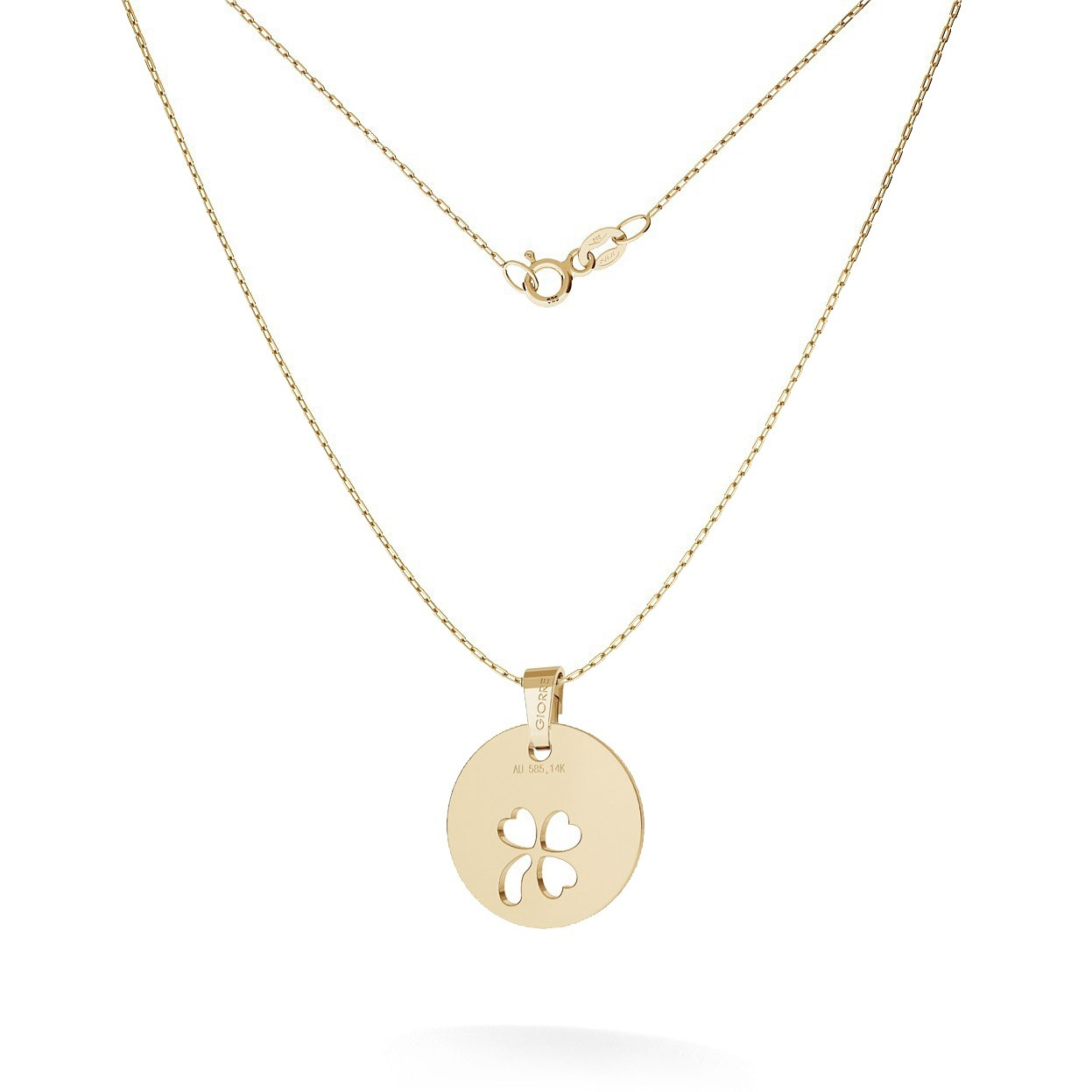 Halskette mit KLEE anhänger, GOLD 14K, MODEL 24