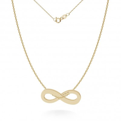 NECKLACE INFINITY SIGN PENDANT 585 14K, MODEL 325