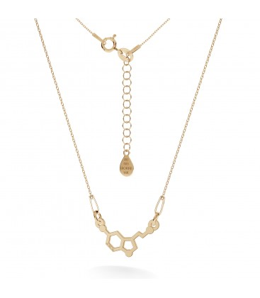 Gold necklace serotonine 14k
