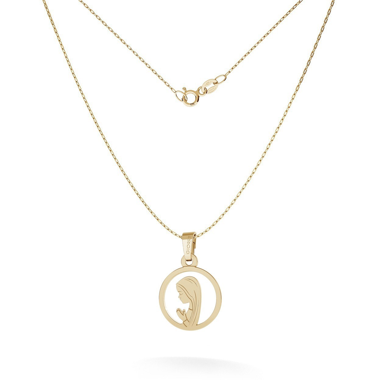 OUR LADY GOLDEN PENDANT 14K, GIORRE