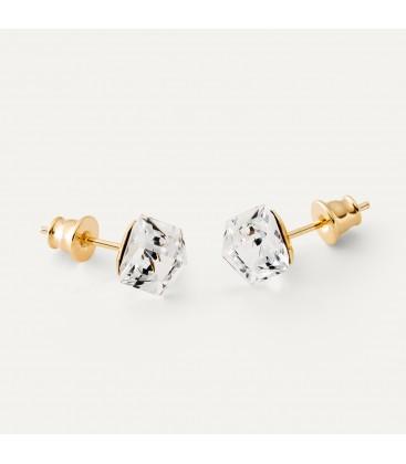 Cube earrings, Swarovski