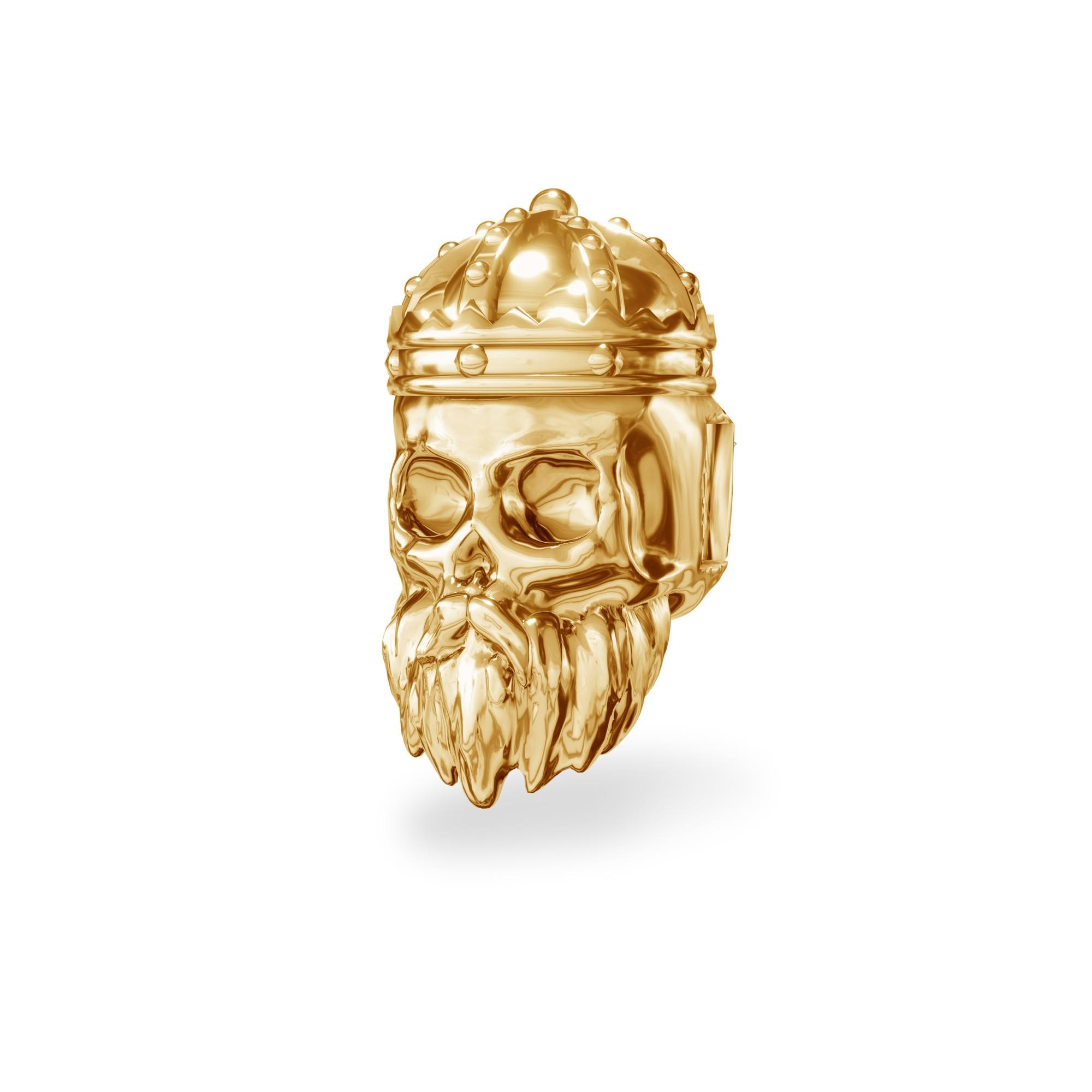 Srebrny beads przekładka CZASZKA króla srebro 925