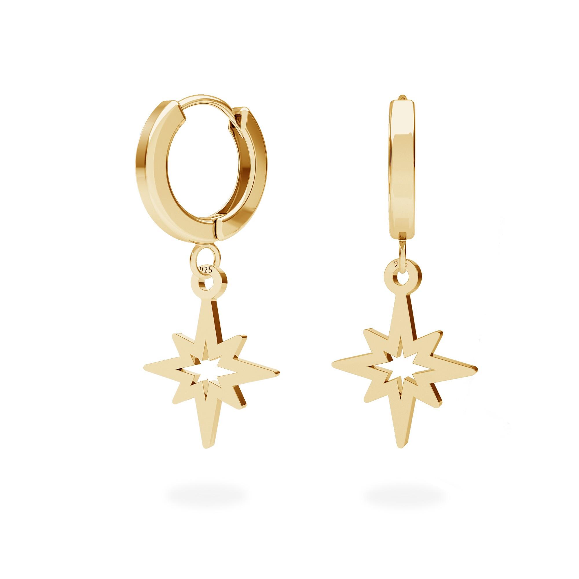 Star earrings sterling silver 925