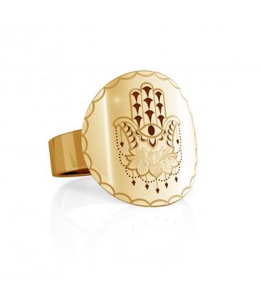 Hamsa signet, sterling silver 925