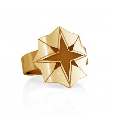 Star signet, sterling silver 925