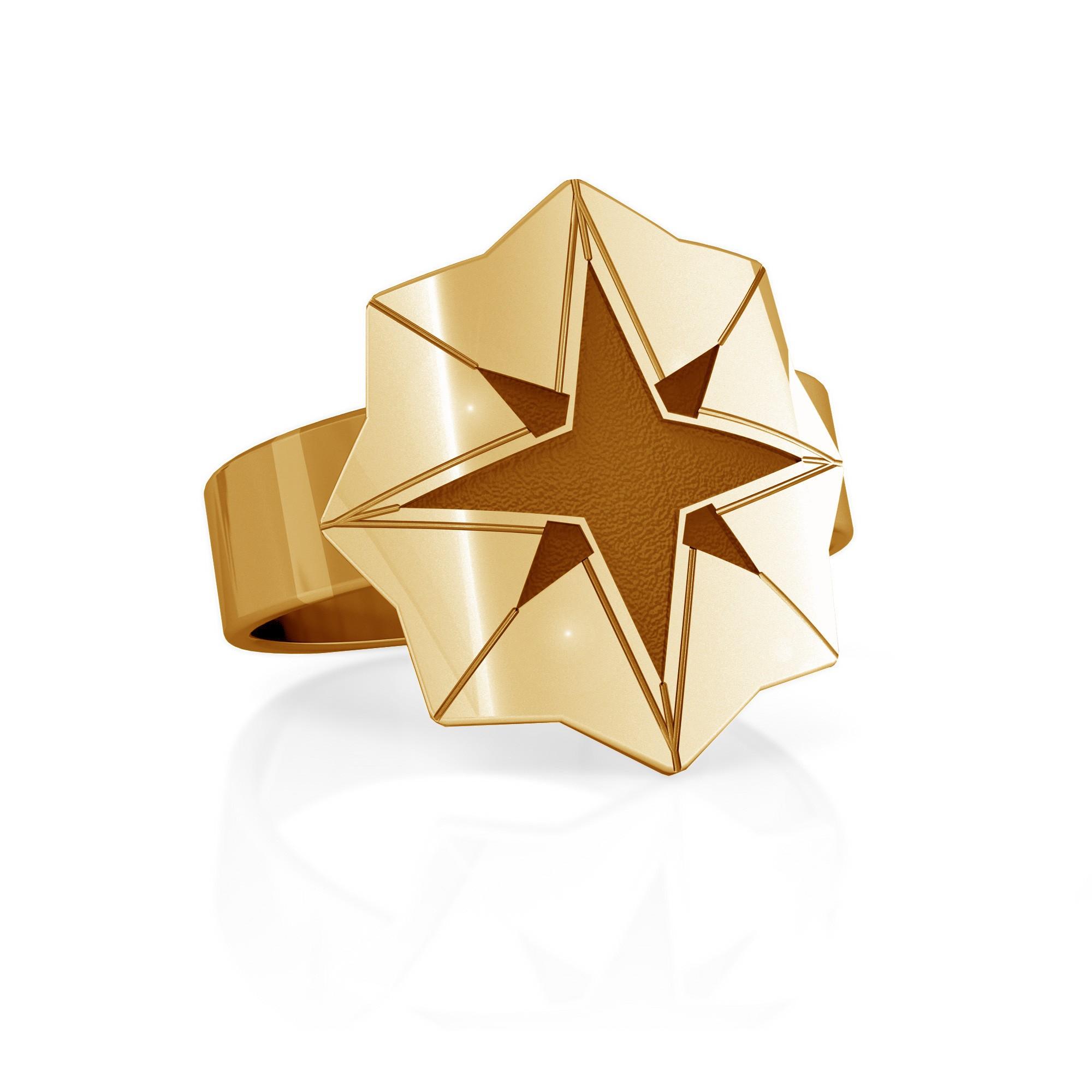 Srebrny sygnet gwiazda, MON DÉFI, 925