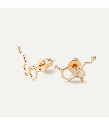 Serotonina aretes fórmula química plata 925