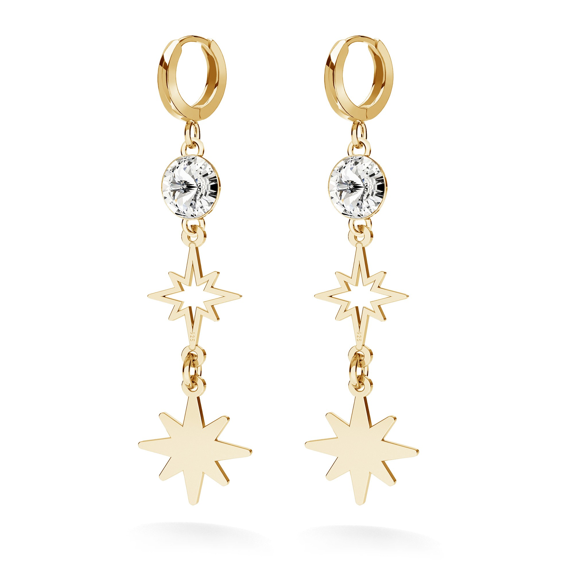 STAR earrings sterling silver 925