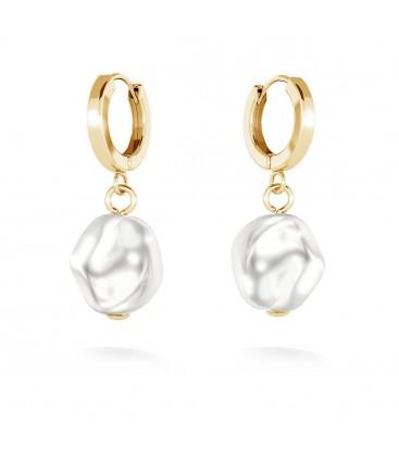 Pendientes con perlas irregulares, MON DÉFI plata 925