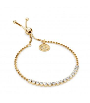 Tennis bracelt with zircons 2mm balls and stoper model 2