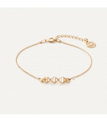 Srebrna bransoletka wzór DNA, srebro 925