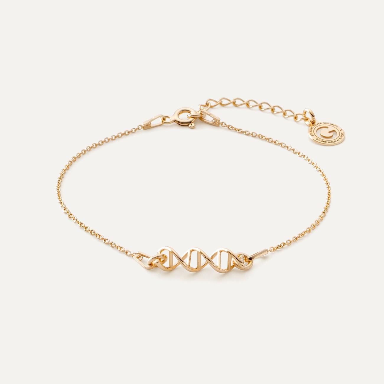 Srebrna bransoletka wzór DNA, 925