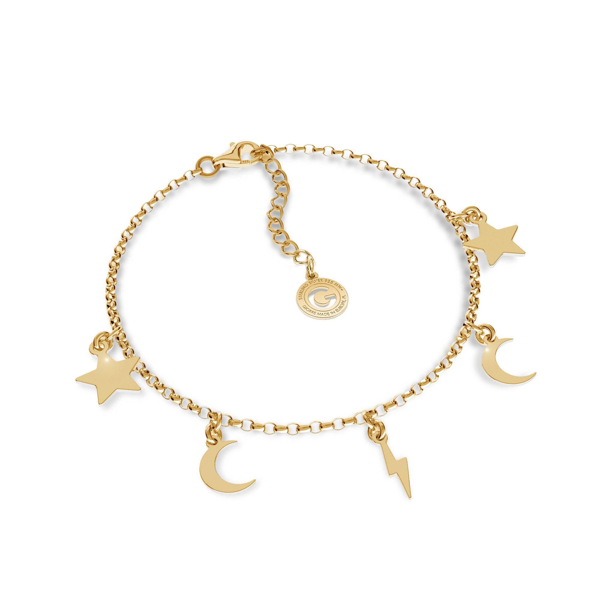 Silver small pendants necklace MON DÉFI, silver 925