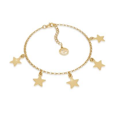 Srebrna bransoletka z małymi gwiazdkami MON DÉFI, srebro 925