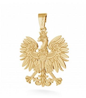 Srebrny charms zawieszka beads orzeł godło 925