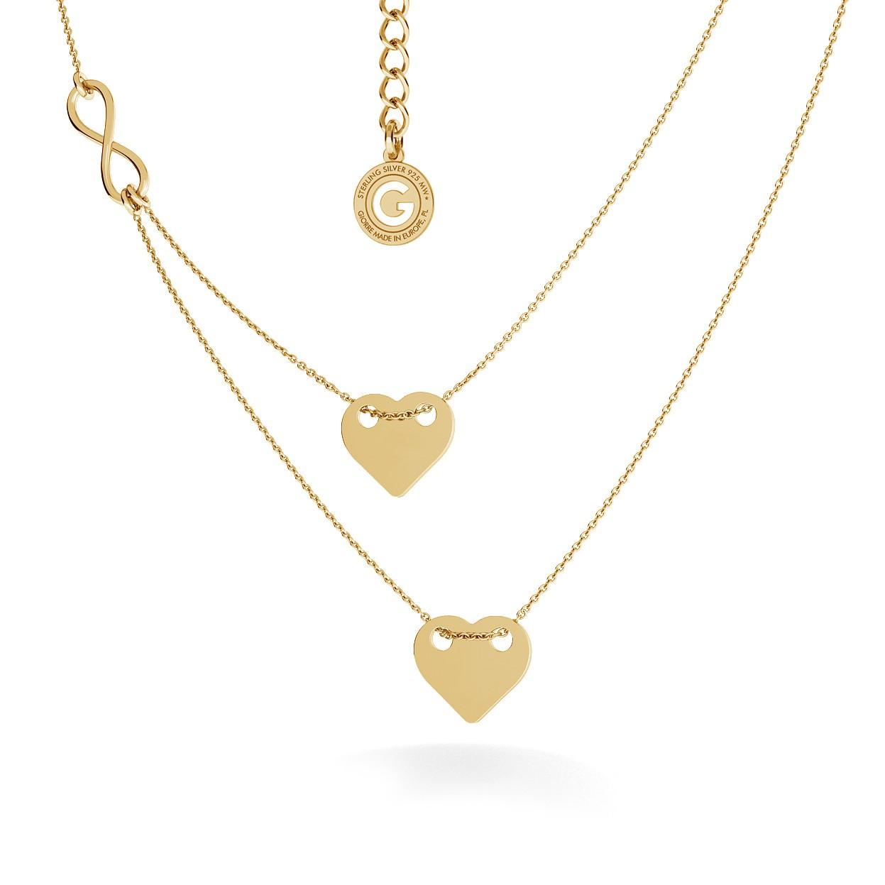 Srebrny naszyjnik serca i znak nieskończoności 925