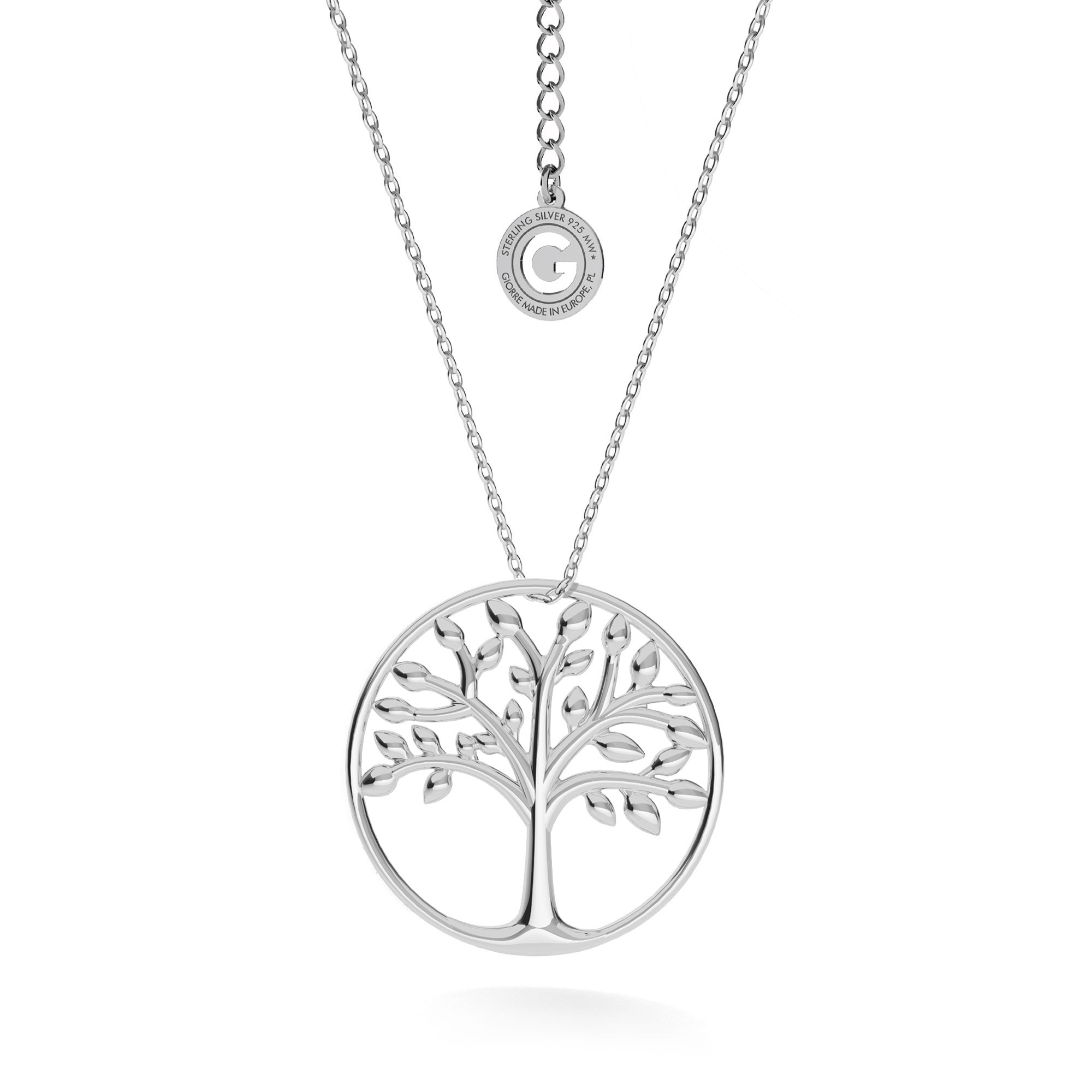 Monstera leaf necklace sterling silver 925