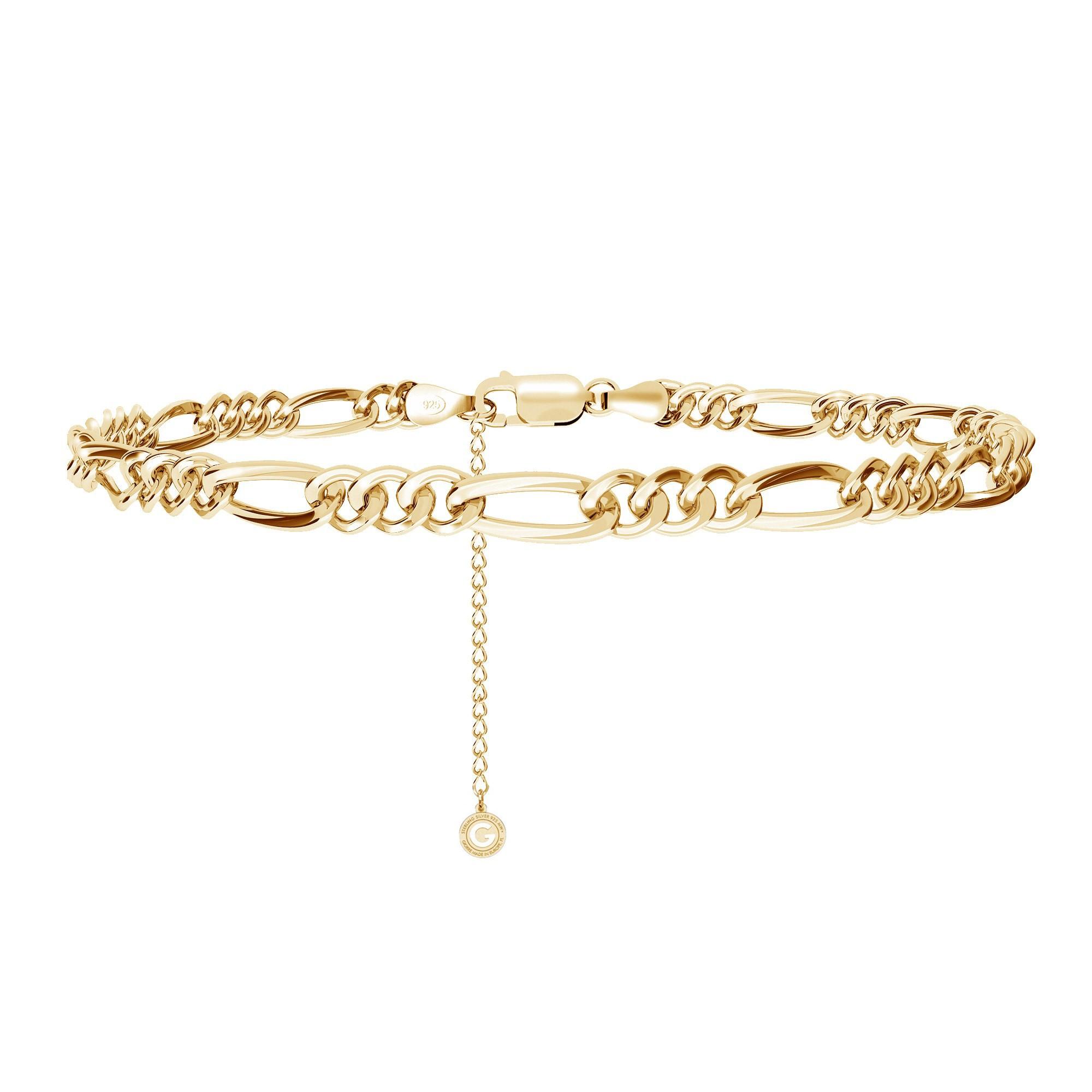 Figaro chain bracelet MON DÉFI, Silver 925