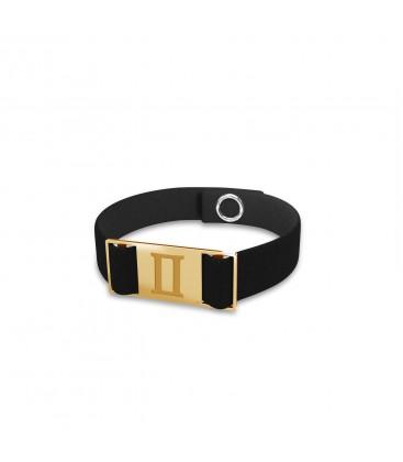 Gemini zodiac sign bracelet, alcantara & sterling silver 925