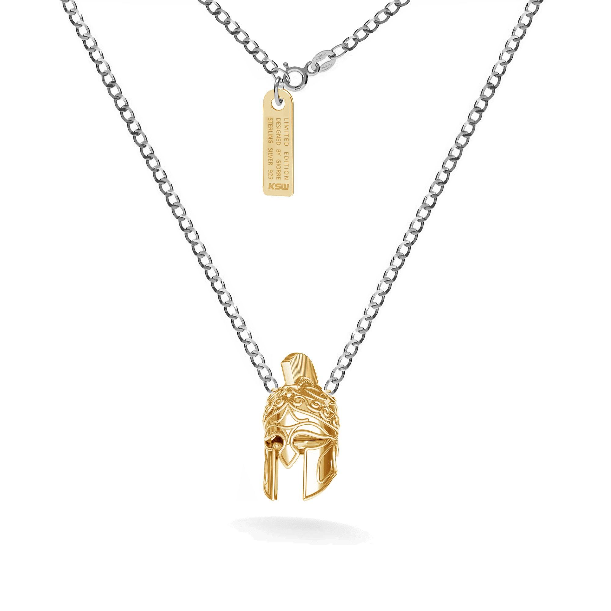 Silver spartan necklace, curb chain, silver 925