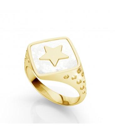 Anillo estrella, plata 925