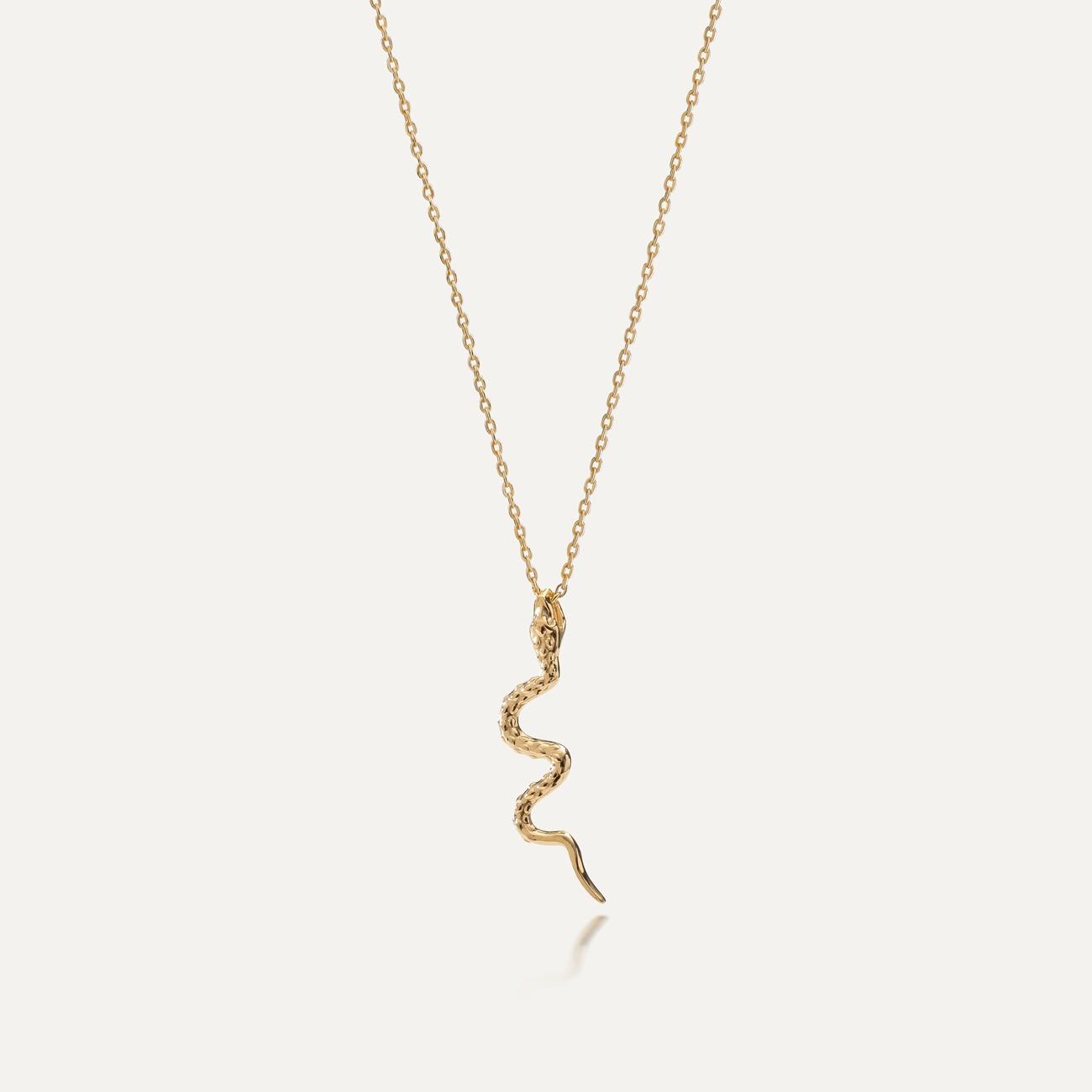 Srebrny naszyjnik wąż MON DÉFI, srebro 925