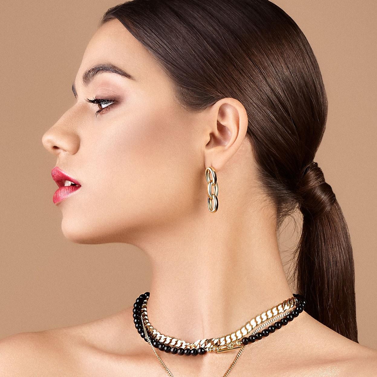 Sterling silver medium earrings 925