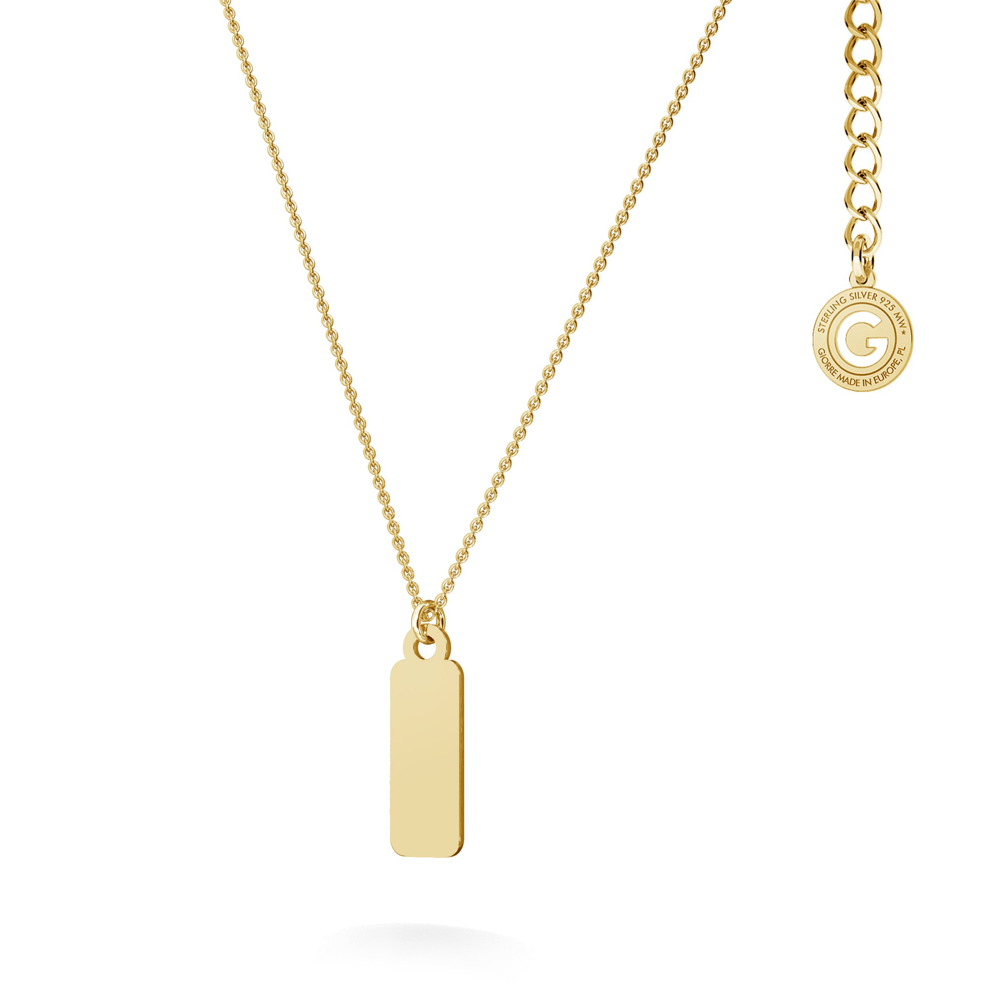 Simple tag with your name necklace sterling silver 925