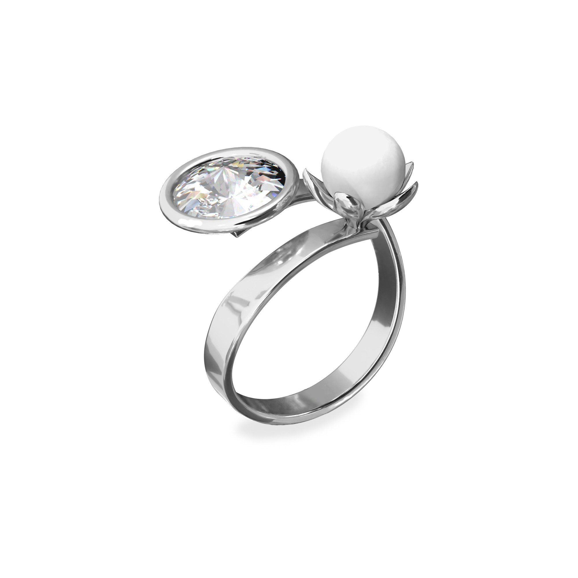 Pearl ring, silver 925 My RING™