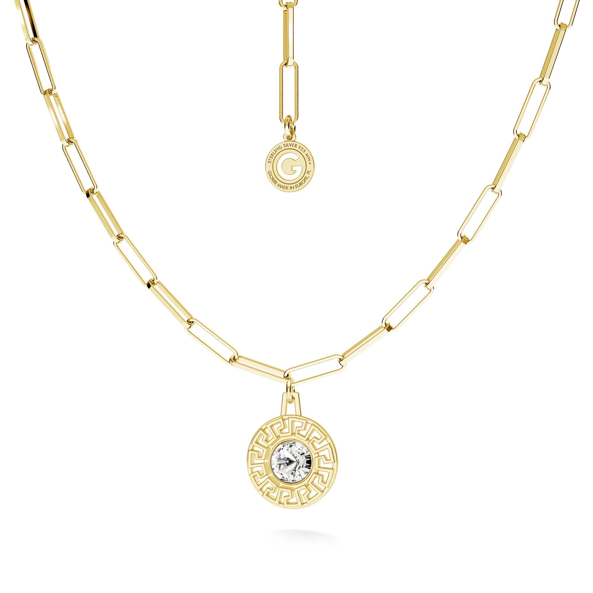 Flamingo necklace silver 925