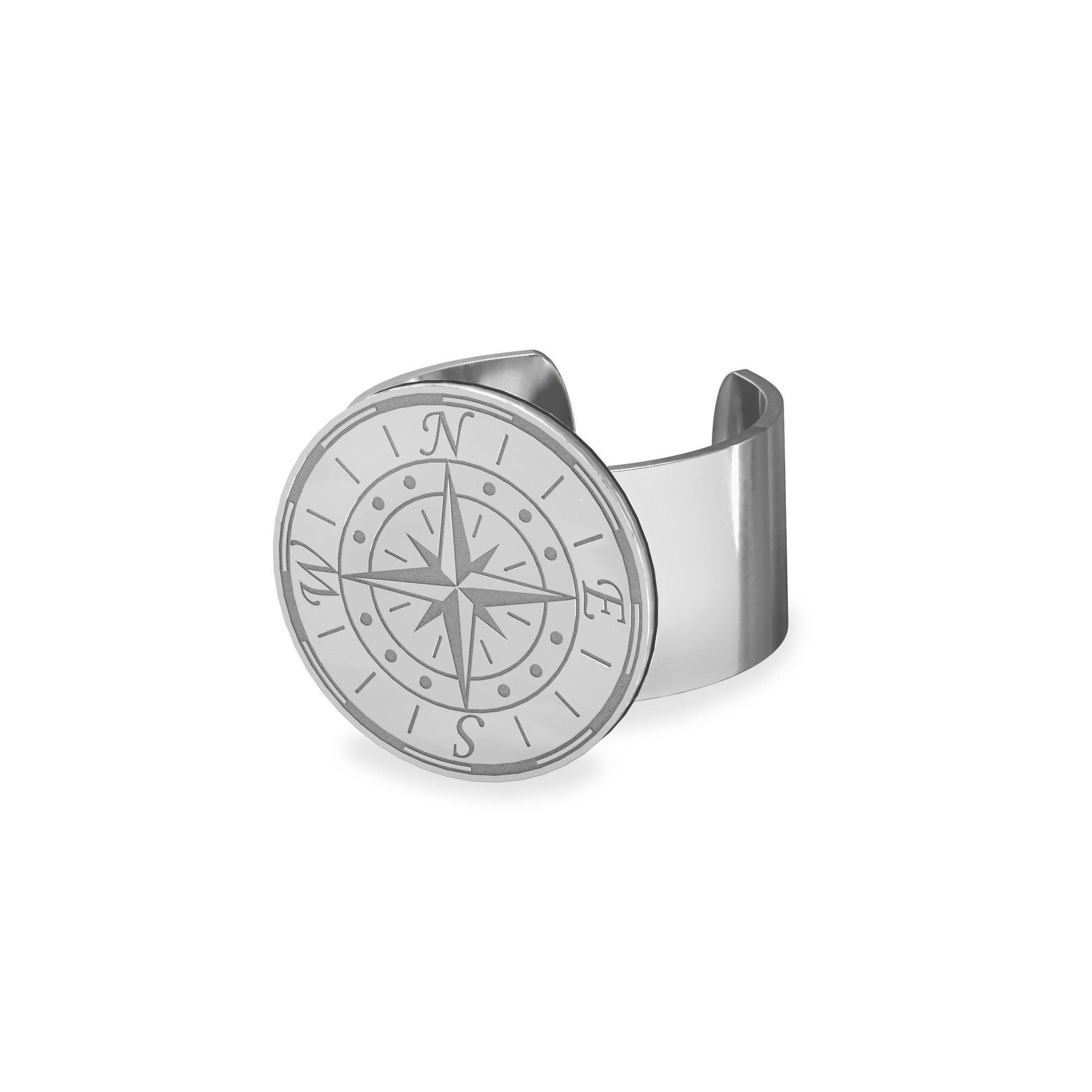 Male signet ring sterling silver engarving