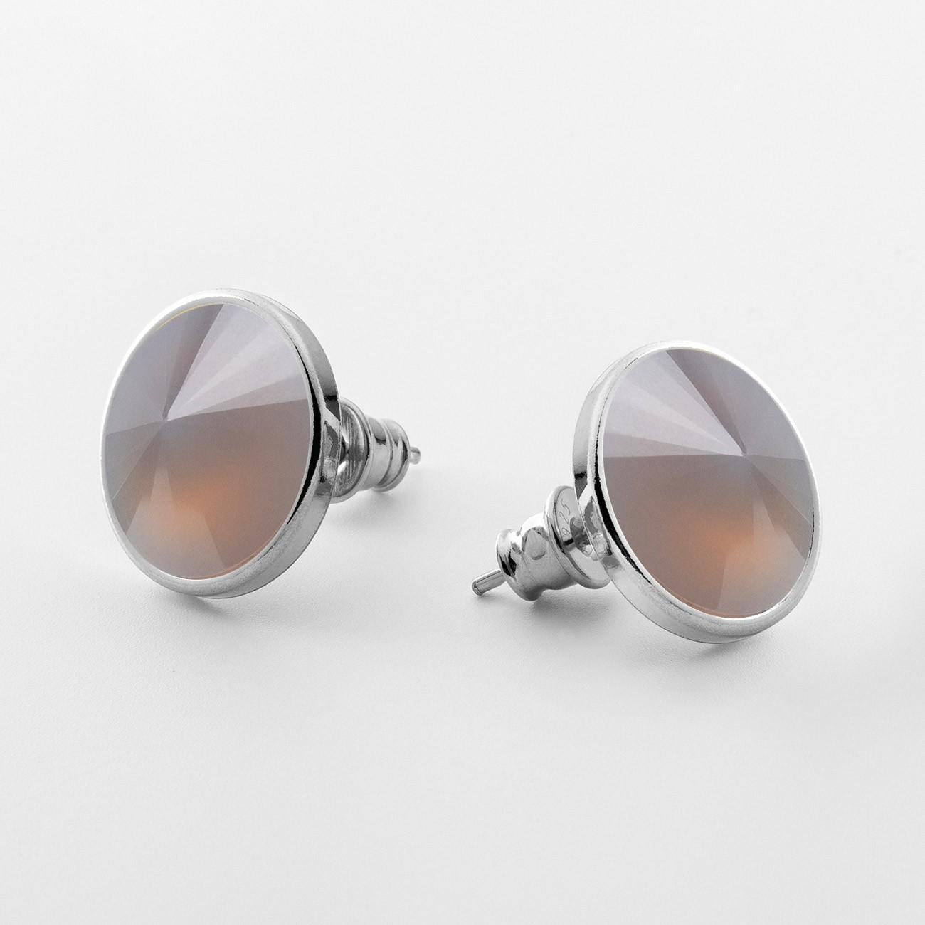 Srebrne kolczyki z kwarcem, srebro 925