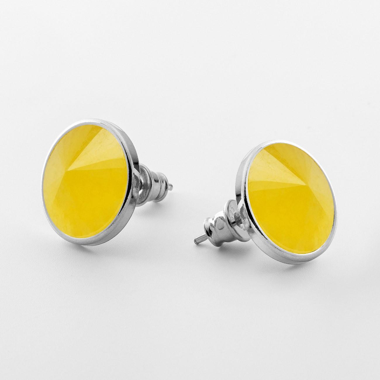 Srebrne kolczyki z chalcedon, srebro 925