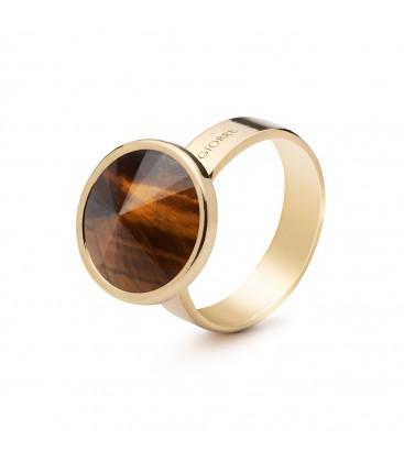Srebrny pierścionek z naturalnym kamieniem - tygrysie oko srebro 925
