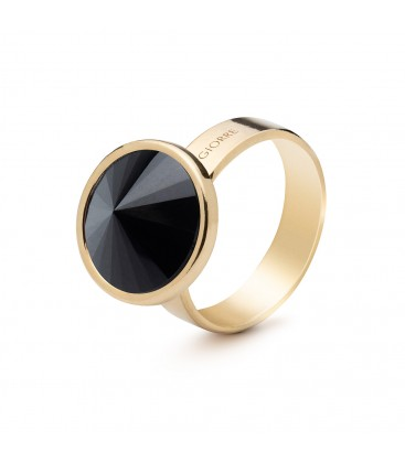 Srebrny pierścionek z naturalnym kamieniem - onyx czarny srebro 925