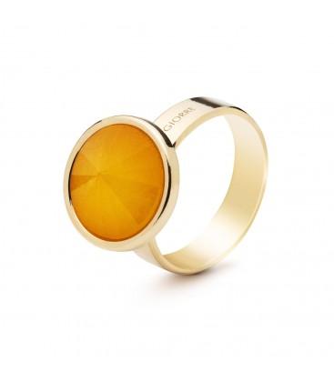 Srebrny pierścionek z naturalnym kamieniem - karneol srebro 925