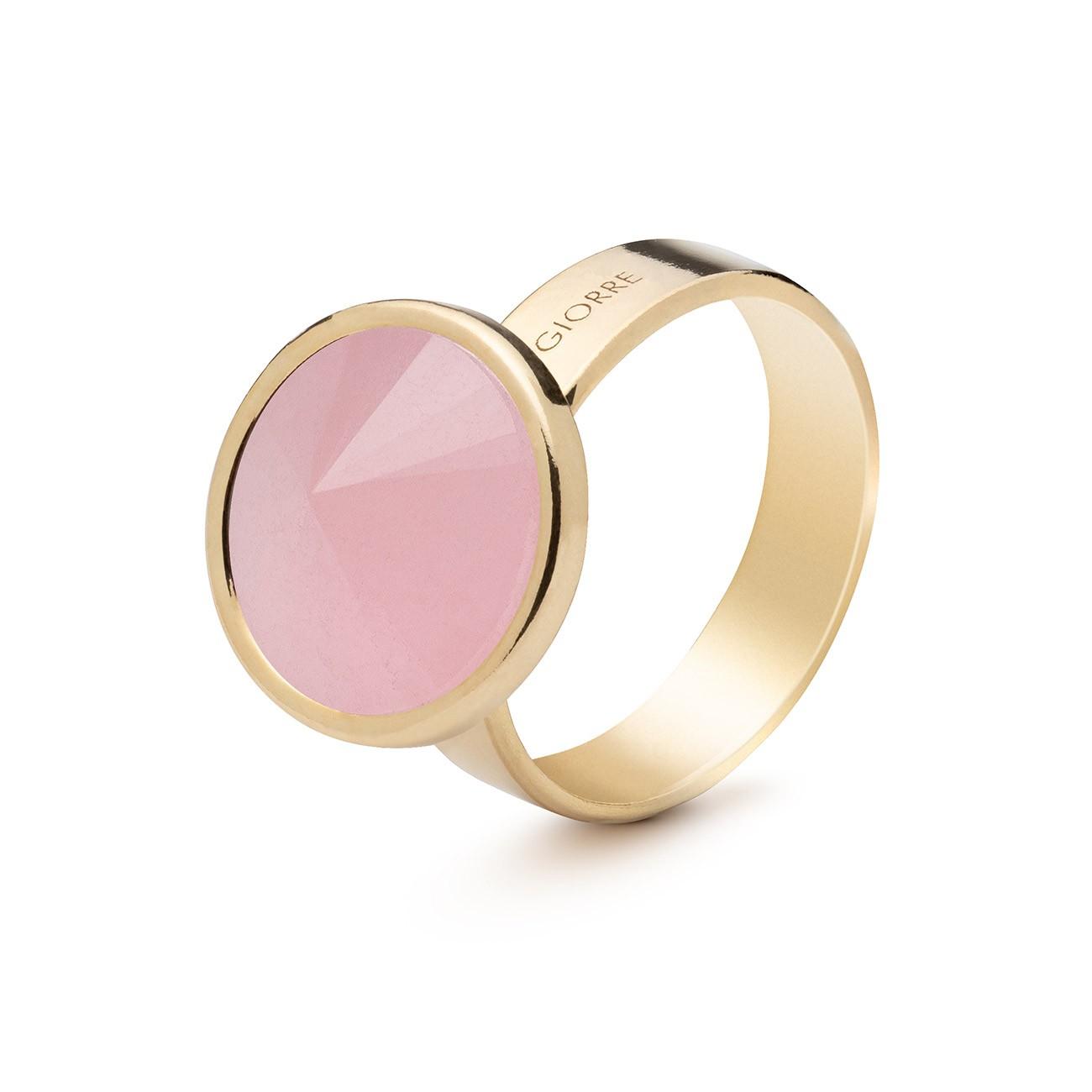 Srebrny pierścionek z naturalnym kamieniem - kwarc różowy, srebro 925