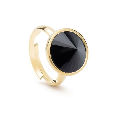 Uniwersalny pierścionek z naturalnym kamieniem - onyx srebro 925