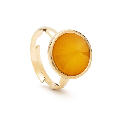 Universal ring with round natural stone, 925
