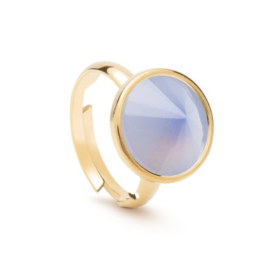 Uniwersalny pierścionek z naturalnym kamieniem - kwarc biały srebro 925